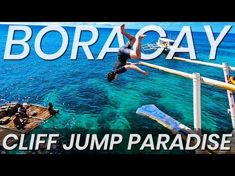 CLIFF JUMPING with Local Filipinos in BORACAY