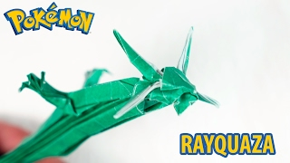 Paper Pokemon - Origami Rayquaza - レックウザ Tutorial (Henry Pham)