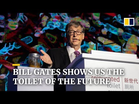 Bill Gates shows us the toilet of the future