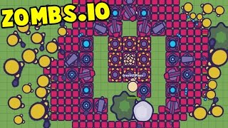 Zombs.io - UNBEATABLE NEW TIER 7 BASE vs INSANE GOLD ZOMBIES! RED TIER Update! - Zombs.io Gameplay