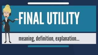 What is FINAL UTILITY? What does FINAL UTILITY mean? FINAL UTILITY meaning & explanation