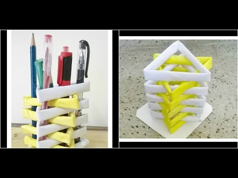 Xxx Mp4 How To Make A Pen Stand From Waste Material DIY Paper Penholder 3gp Sex