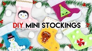 How to Make Mini Holiday Stockings!