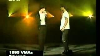Michael Jackson with Slash from Guns N Roses - 1995 MTV VMA Rehearsal
