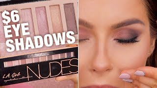 L.A. Girl $6 Nudes Eyeshadow Palette Review & Tutorial