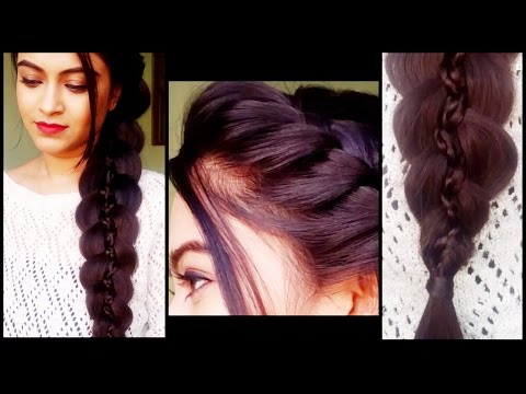 Braided 5 strand braid - hairstyles for medium/long hair... prom/party indian hairstyles
