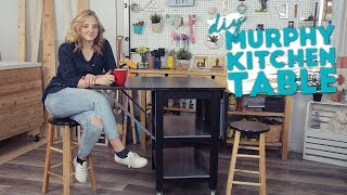 IKEA HACK! DIY Murphy Kitchen Island | Small Space Solutions