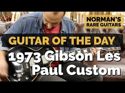Xxx Mp4 Guitar Of The Day 1973 Gibson Les Paul Custom Norman S Rare Guitars 3gp Sex
