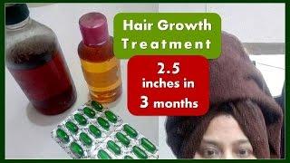 DIY Hair Growth Treatment Oil | Natural BLACK, Thick & LONG Hair - QUICK