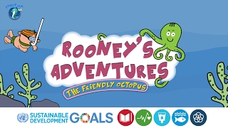 Environment Cleanliness Kids | Short Story | Rooney's Adventures: The Friendly Octopus | Story #4