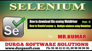 How to download file using WebDriver  Part-1