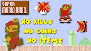 Super Mario Bros. - Can You Beat the Game with No Kills, No Coins and No Items?