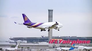 Bangkok Suvarnabhumi Airport PlaneSpotting Landing A319 B747 B777