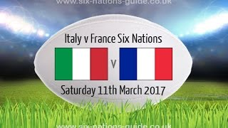 ITALY VS FRANCE - Rugby 6 Nations 2017