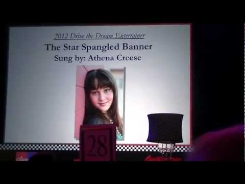 11 Year Old Athena Creese - National Anthem for Childhelp