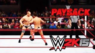 WWE Payback 2016 - Cesaro vs The Miz FULL MATCH - Intercontinental  Title [WWE2K15]