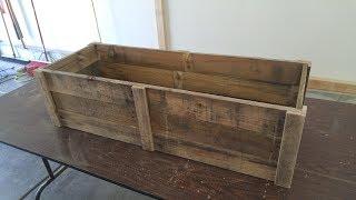 Pallet Wood Planter Box