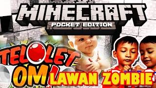 Minecraft Pocket Edition MCPE Lawan Zombie TELOLET