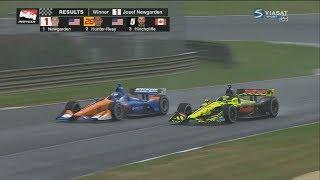 IndyCar Series 2018. Grand Prix of Alabama. Last Laps