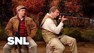 George H. W. Bush and George W. Bush Go Hunting - SNL