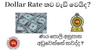 Dollar Rate වැඩි වේවිද -ණය පොලි අනුපාත අඩුවෙන්නේ කවද්ද -loan rate