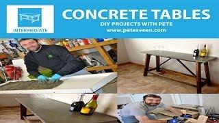 How to Build a Concrete Table | Concrete Counter Top | Episode 2