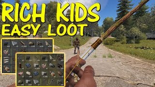 DESTROYING KIDS LOADED WITH LOOT!! - RUST [2/4]