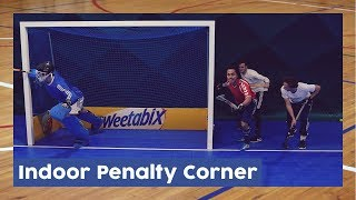 How to: Indoor Penalty Corner - Indoor Hockey Technique | HockeyheroesTV