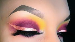 Sexy Spring Rose Gold Eyeliner Burgundy Smokey Eye