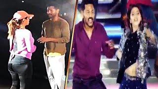 Prabhu Deva Nikki Galrani Dance Concert At Dubai | Dubai Star Night | Prabhu Dance At Stage