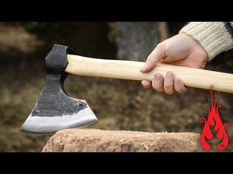 Blacksmithing Forging a bearded axe