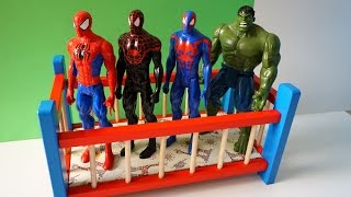 Super Heros Spider Jumping on the Bed - TOP Nursery Rhyme Song Compilation