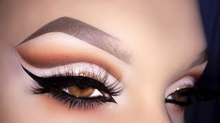 Sexy Arabic Makeup Cut Crease Tutorial ft. Mulac Daily Mood Palette