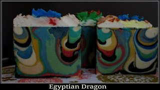 Making and Cutting of Egyptian Dragon cold process soap ~ With Soap recipe