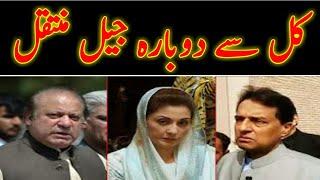 Nawaz Sharif ,Maryam Nawaz  going back to adiala parole time Expire