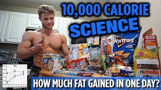 10,000 Calorie Challenge SCIENCE Explained | How Much Fat Gained in One Day?