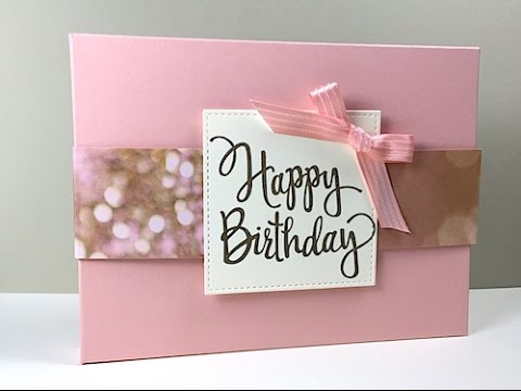 Simply Simple MAKE IT IN MINUTES Stylized Birthday Series Card Gift Box by Connie Stewart