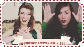Comparing ASL & BSL Christmas Signs feat. Rikki Poynter // Vlogmas Day 19 [CC]