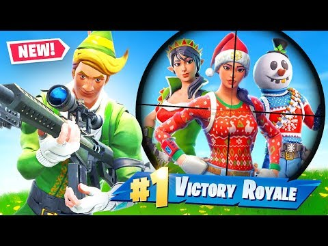 Fortnite But You Can ONLY Loot Christmas Skins Challenge