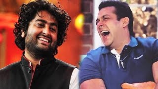 OMG! Salman Khan Makes FUN Of Arijit Singh At Sultan Promotion