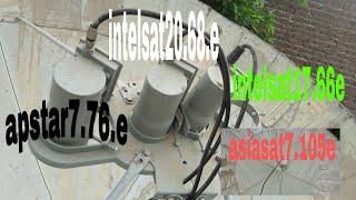 c band dish  asiasat7 105e  intelsat 17 66e intelsat20.68e apstar7 76e