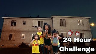 24 HOUR OVERNIGHT CHALLENGE IN ABANDONED HOUSE! WE FOUND A HIDDEN TREASURE   Familia Diamond