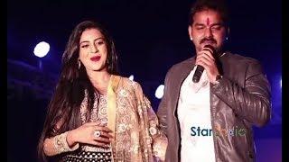 Pawan Singh Akshara Singh New Live Performance Comedy Show Bhojpuri