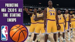 Predicting NBA 2K18's all time team starting lineups