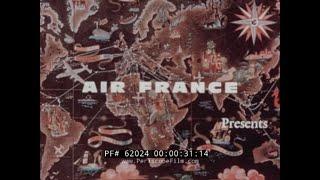 AIR FRANCE 1960s SAINT MORITZ SWITZERLAND SKI TRIP  TRAVELOGUE MOVIE  62024