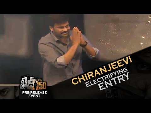 watch Mega Star Chiranjeevi Electrifying Entry @ Khaidi No 150 Pre-Release Function
