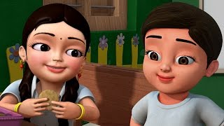 Amma Appachi | Telugu Rhymes for Children | Infobells