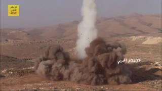 """حزب الله يستعرض """"عضلاته"""" في عرسال ويستخدم صاروخ ثقيل قصير المدى"""