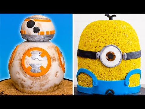 Movie Themed Cake Decoration Ideas BB 8 Star Wars Cake & Minion Cake by So Yummy