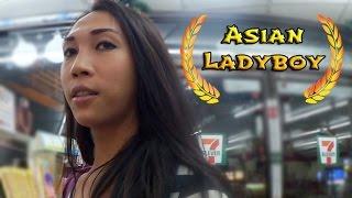 Asian Ladyboy teases in 7-11